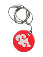 Itzy Ritzy® Teething Happens™ Chewable Mom Jewelry Pendant Necklace – Coral Cloud