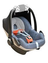 Itzy Ritzy® Ritzy Wrap™ Infant Car Seat Handle Cushion – Grey Chevron