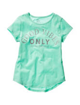 Twirl Teal Good Vibes Only Hi-Lo Top – Girls 7-16
