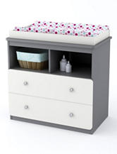 Cosco Willow Lake Changing Table - Light Slate Grey