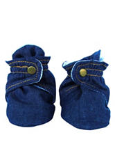 Trimfit Dark Wash Denim Booties - Baby 0-12 Mos.