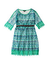 My Michelle Crochet Geo Print Dress - Girls 7-16
