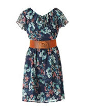 Speechless Multicolor Floral Print Dress - Girls 7-16