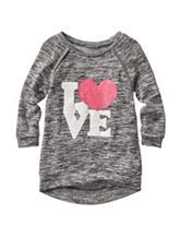 Miss Chevious Love Heart Print Top - Girls 7-16