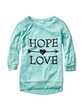 Miss Chievous Hope & Love Print Top - Girls 7-16