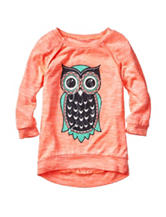 Miss Chievous Owl Print Top - Girls 7-16
