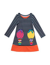 Rare Editions Striped Air Balloon Dress – Girls 2-6x