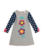 Rare Editions Polka Dot Flower Dress – Girls 2-6x