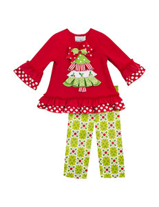 Rare Editions 2-pc. Christmas Tree Top & Leggings Set – Girls 2-6x