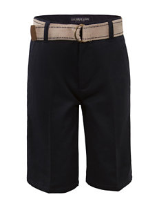 U.S. Polo Assn. Flat Front Belted Shorts - Boys 4-7