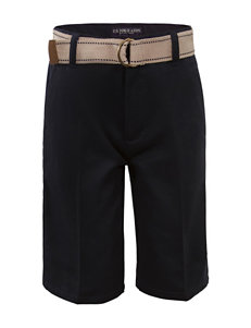 U.S. Polo Assn. Flat Front Shorts - Boys 8-16