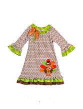 Rare Editions Turkey Ruffle Dress – Girls 2-6x
