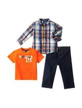 Nautica 3-pc. Multicolor Plaid Shirt & Pants Set - Baby 12-24 Mos.