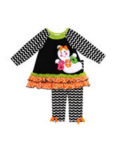 Rare Editions 2-pc. Ghost Boo Top & Leggings Set – 2-6x