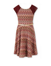 Speechless Crochet Knit Fit & Flare Dress – Girls 7-16