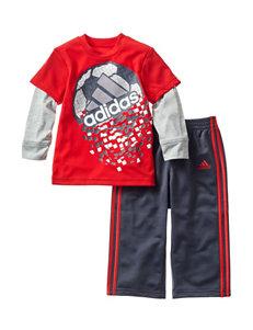 adidas® 2-pc. Soccer Print Top & Pants Set - Baby 12-24 Mon.