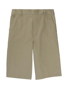 French Toast Elastic Back Shorts - Boys 4-7