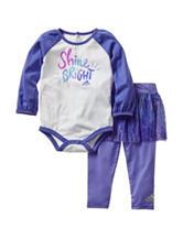 adidas® 2-pc. Shine Bright Bodysuit & Tutu Leggings Set - Baby 12-24 Mos.