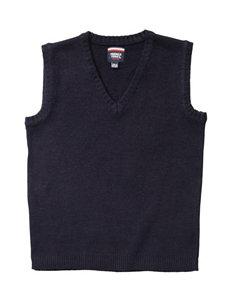 French Toast Pull-Over Knit Vest - Boys Husky