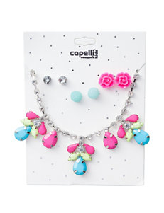 Capelli Gemstone Statement Necklace with Earrings