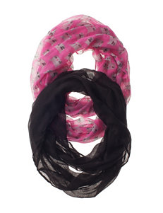 Capelli 2-pk. Kitten Faces & Solid Loop Scarves