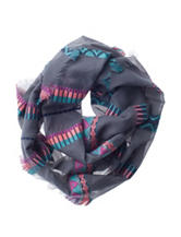 Capelli Mosaic Striped Print Infinty  Scarf