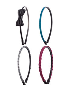 Capelli 4-pk. Faux Leather & Metallic Headbands