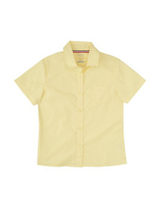 French Toast Pointed Collar Blouse - Girls 7-20