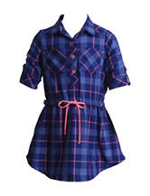 Youngland Plaid Shirt Dress - Toddler & Girls 4-6x