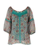 Speechless Chiffon Floral Print Top - Girl 7-16