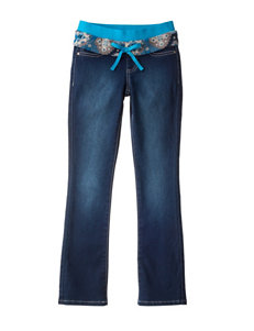 Squeeze Aztec Knit Waist Jeans with Sash Belt - Girls 7-16