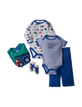 Baby Gear 5-pc. Truck Print Bodysuit & Pants Set - Baby 0-9 Mos.