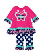 Rare Editions 2-pc. Butterfly Ruffle Leggings Set – Baby 12-24 Mos.