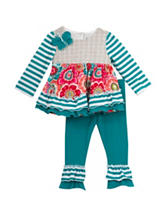 Rare Editions 2-pc. Floral Striped Leggings Set – Baby 12-24 Mos.