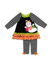 Rare Editions 2-pc. Boo Top & Leggings Set - Baby 12-24 Mos.
