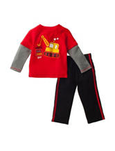 Baby Gear 2-pc. Daddy's Big Tough Guy Shirt & Pants Set - Baby 12-24 Mos