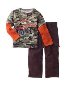 Baby Gear 2-pc. Boys Will Be Boys Shirt & Pants Set - Baby 12-24 Mos.