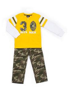 Boys Rock 2-pc. Football T-shirt & Camo Pants Set - Baby 12-24 Mos.