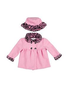 Little Lass Light Pink Lightweight Jackets & Blazers