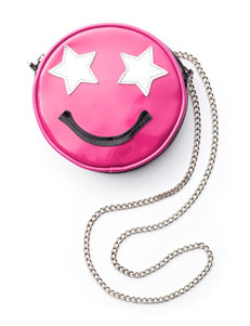Capelli Happy Star Face Emoji Crossbody Bag