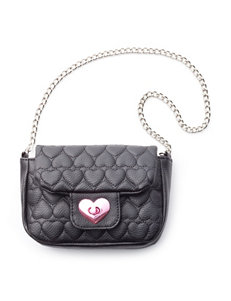 Capelli Quilted Heart Crossbody Bag