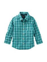 OshKosh B'gosh® Blue & White Plaid Print Shirt - Toddler Boys