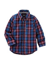 OshKosh B'gosh® Plaid Print Woven Shirt - Toddler Boys