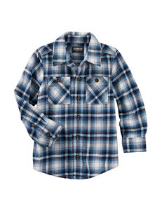 OshKosh B'gosh® Tartan Plaid Print Woven Shirt - Toddler Boys