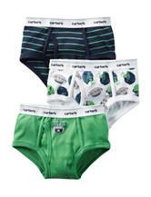 Carter's® 3-pk. Football Theme Briefs - Toddler & Boys 4-7