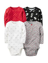 Carter's® 4-pk. Assorted Print Bodysuits - Baby 3-9 Mos.