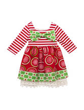 Rare Editions Bow Knit Dress - Toddler & Girls 4-6x