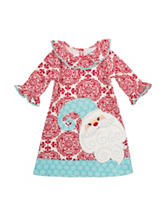 Rare Editions Damask Santa Dress - Toddler & Girls 4-6x