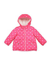 Carters® Pink Dot Puffy Jacket - Baby 12-24 Mos.