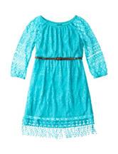 My Michelle Crochet Dress with Belt - Girls 7-16